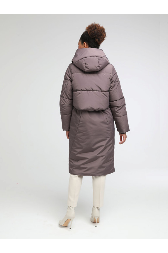 2052 Пальто ВЕРОНА комби Какао
